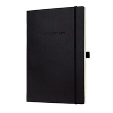 Sigel Softcover Blank Notebook - Large Size with Elastic Closure