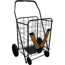 """42"""" Rolling Shopping Cart with Geometric Handle"""