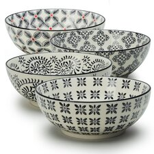 Print 1 4 Piece Dining Bowl Set