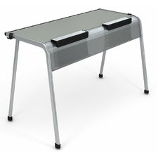 "A&D Laminate 28"" Student Desk with Tablet/Book Kickstand"