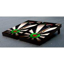 Dart Board Themed Cornhole Game Set