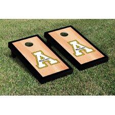 NCAA Hardcourt Wooden Script Cornhole Game Set