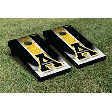 NCAA Appalachian State Mountaineers Vintage Wooden Logo Cornhole Game Set