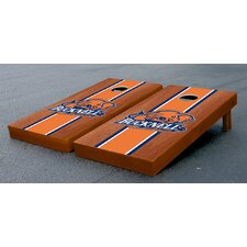 NCAA Rosewood Stained Wooden Cornhole Game Set