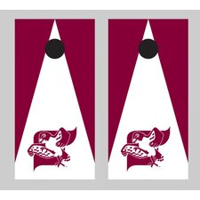 NCAA Triangle Wooden Version 1 Cornhole Game Set