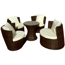 Geo Vase 5 Piece Lounge Seating Group with Cushions