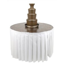 Metallic Chocolate Fountain Table