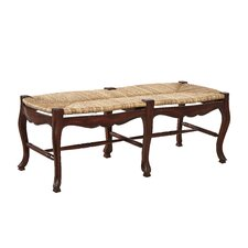 French Country Mahogany Bench