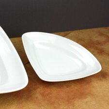 "Culinary Proware 8"" Small Triangle Plate (Set of 3)"