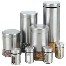 8 Piece Stainless Steel Canister & Spice Jar Set