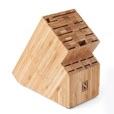 Cook N Home Bamboo 17 Slot Knife Storage Block