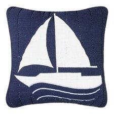 Nantucket Dream Sailboat Quilt Cotton Throw Pillow