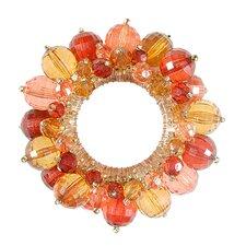Garnet Round Beaded Napkin Ring (Set of 12)