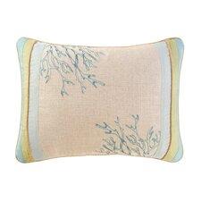 Natural Shells Patchwork Cotton Lumbar Pillow