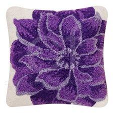 Dahlia Canvas Accent Cotton Throw Pillow