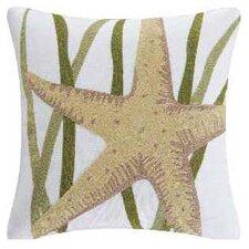 Starfish Accent Cotton Throw Pillow