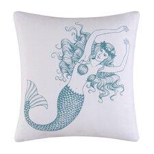 Cora Mermaid Accent Cotton Throw Pillow