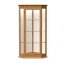Varsity Series Corner Display Case with 1 Hinged Door