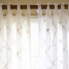 Trellis Linen Tab Top Voile Single Curtain Panel