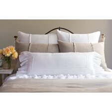 Tucked Linen Lumbar Pillow