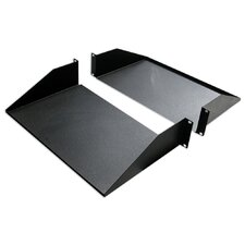 "25""D 2-Piece Double-Sided Non-Vented Divided Shelf - 2 RU"