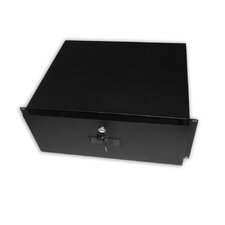 "19"" x 14"" Locking Storage 4U Drawer Shelf"