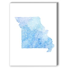 Missouri Blue Water Textual Graphic Art