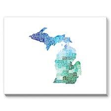 Michigan Cool Textual Graphic Art