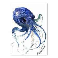Octopus by Suren Nersisyan Painting Print in Blue