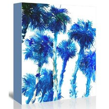 Blue Trees Painting Print on Gallery Wrapped Canvas