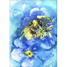 Bee by Suren Nersisyan Painting Print in Blue