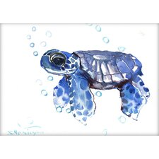 Tortoise Small by Suren Nersisyan Painting Print in Blue