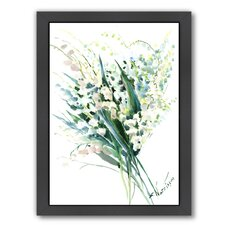 Lilies of The Valley by Suren Nersisyan Framed Painting Print