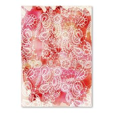 Urban Road Lace Red Poster Graphic Art