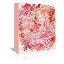Urban Road Lace Red Graphic Art on Gallery Wrapped Canvas