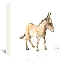 Donkey Painting Print on Wrapped Canvas