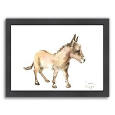Donkey Framed Painting Print