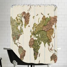 Pack Your Bags Map Shower Curtain