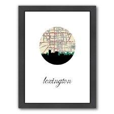 Lexington Map Skyline Framed Graphic Art