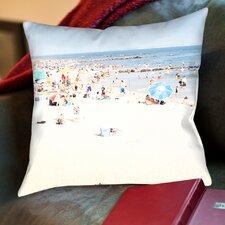 Blue Beach Thow Pillow