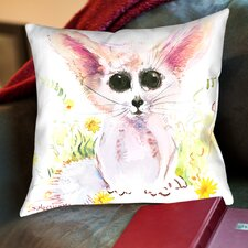 Baby Fennec Throw Pillow