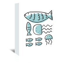 Marine Animals Graphic Art on Wrapped Canvas