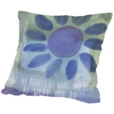 Rumi Watercolor Beauty of Love Throw Pillow