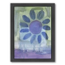 Rumi Watercolor Beauty Of Love by Amy Brinkman Framed Graphic Art