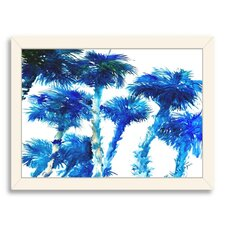 Trees Blue Painting Print