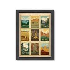 National Park 2 Framed Vintage Advertisement