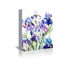 'Irises' Painting Print on Wrapped Canvas
