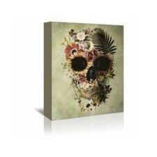 Garden Skull Light Graphic Art on Wrapped Canvas
