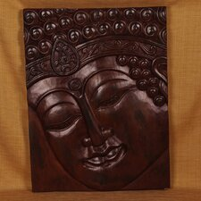Wood Panels Buddha with Indian Band Wall Décor