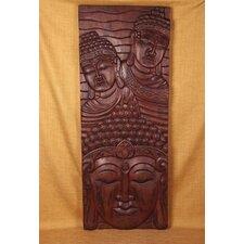 Wood Panels Three Head Vertical Wall Décor